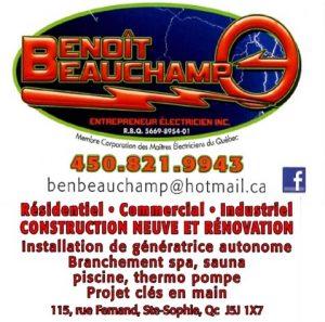 Benoit Beauchamp_entrepreneur électricien
