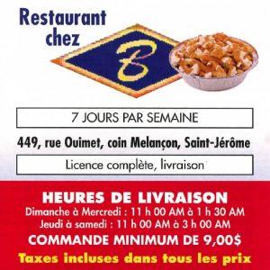 Chez B_150 $